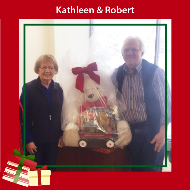 Teddy Bear Winner Kathleen and Robert