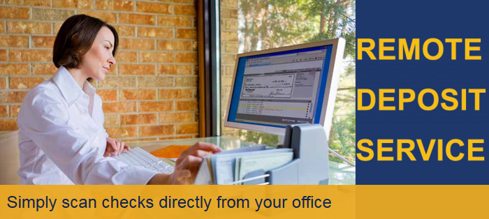 Simply scan checks directly from your office